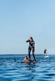 Standup paddle surfing on Mors, Denmark 4