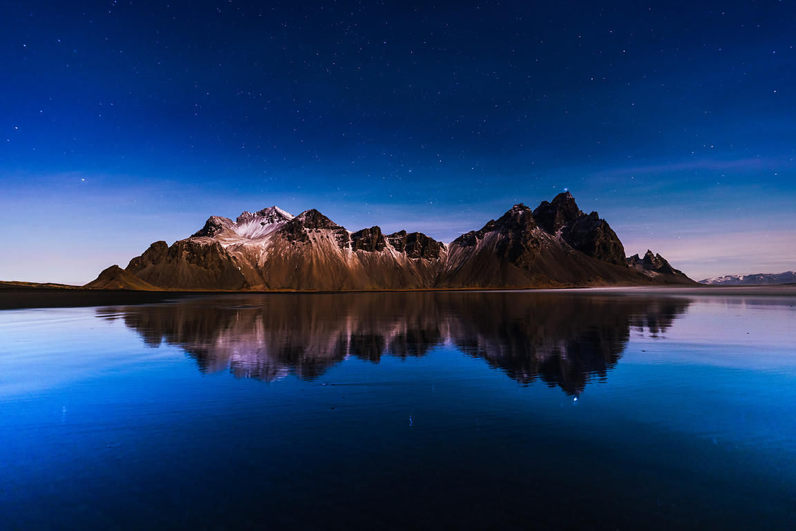 Vestrahorn in moonlight