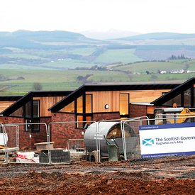 Maybole, Scotland..25.11.13.The new social housing development in Maybole, commissioned by Ayrshire Housing Association and f...