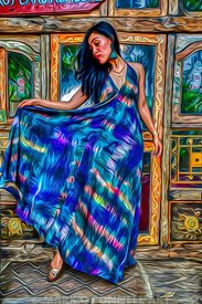 art,airbrush,abstract,model,posing,chair,Bali,Indonesia,girl,woman,dress