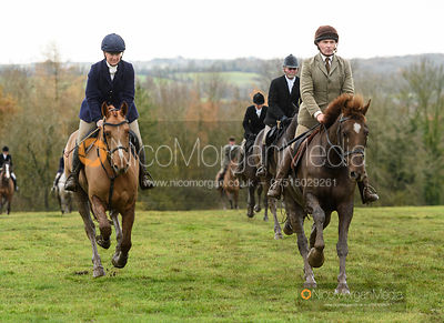 Emilie Chandler, Bruce McKim at Hill Top Farm - The Cottesmore Hunt at Knossington 26/11