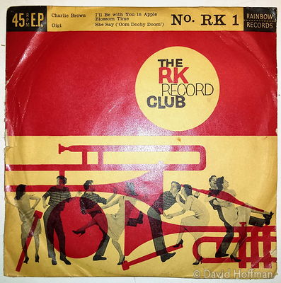 My first Record from 1959. RK Record Club. Tracks: Charlie Brown, I'll Be With You In Apple Blossom Time, GiGi, She Say (Oom ...