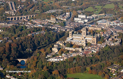 Durham University, Cathedral and  Durham Castle  aerial photograph