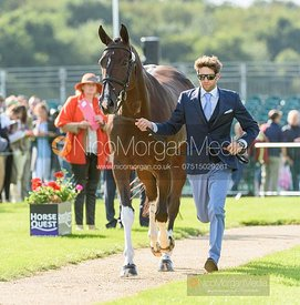 Arthur Chabert and GOLDSMITHS IMBER at the trot up, Land Rover Burghley Horse Trials 2019
