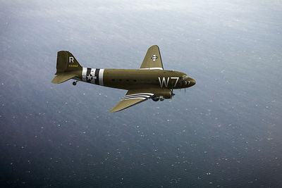 C-47 Skytrain over the Channel
