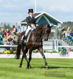 Eliza Stoddart and PRIORSPARK OPPOSITION FREE - Dressage - Land Rover Burghley Horse Trials 2019