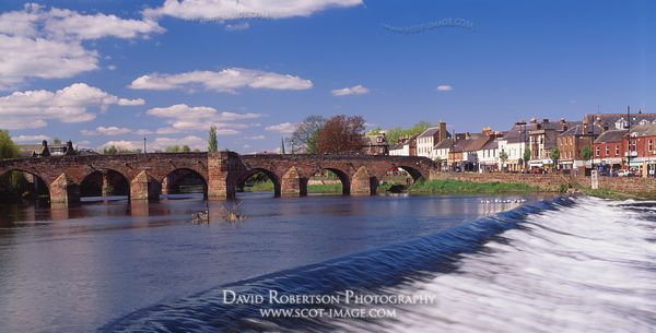 Image - Devorgilla's Bridge over the River Nith, Dumfries, Scotland, Panoramic