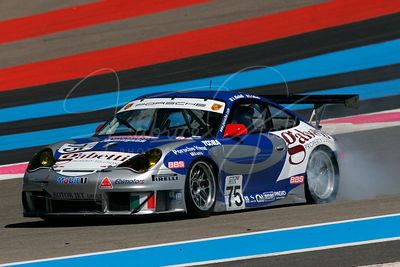 Ammanuel Collard (FR) et Luca Riccitelli (IT), Porsche 996 GT3 RSR. Team Ebimotors. Action.