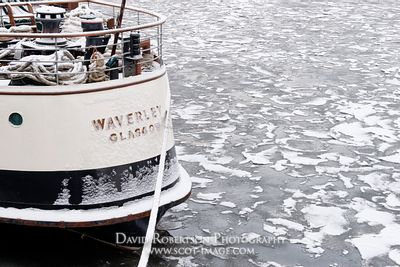 Image - Paddle Steamer Waverley, frozen River Clyde,Glasgow, Scotland.