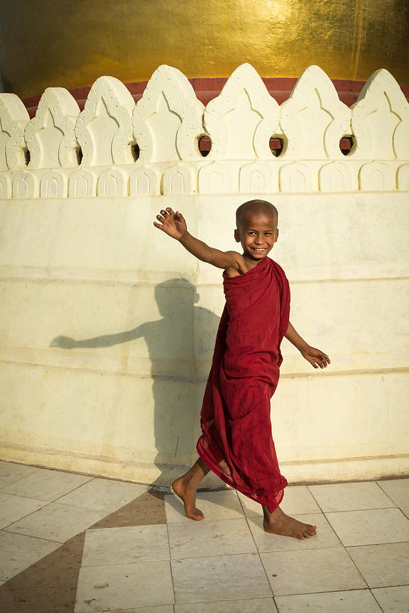 Young Monk at Bupaya Pagoda