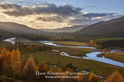 Prints & Stock Image - The River Dee on the Mar Lodge Estate, near Braemar, Deeside, Aberdeenshire, Scotland.  In the Cairngo...