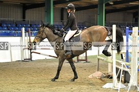 Unaffiliated showjumping. Brook Farm Training Centre. Essex. UK. 06/01/2019. ~ MANDATORY Credit Garry Bowden/Sportinpictures ...