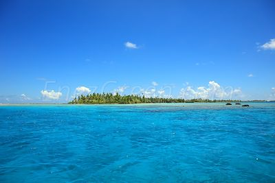 Atoll landscape in Ahe