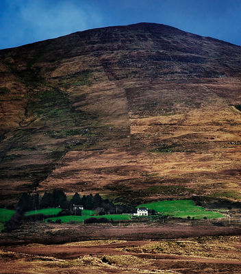 Isolated house in County Kerry, on the west coast of Ireland