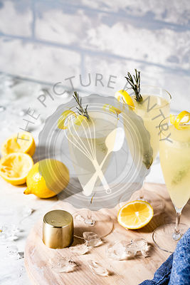 Lemon cocktail in a glass