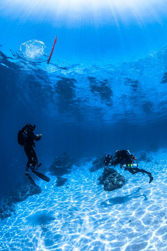 Rebreather diver on stop