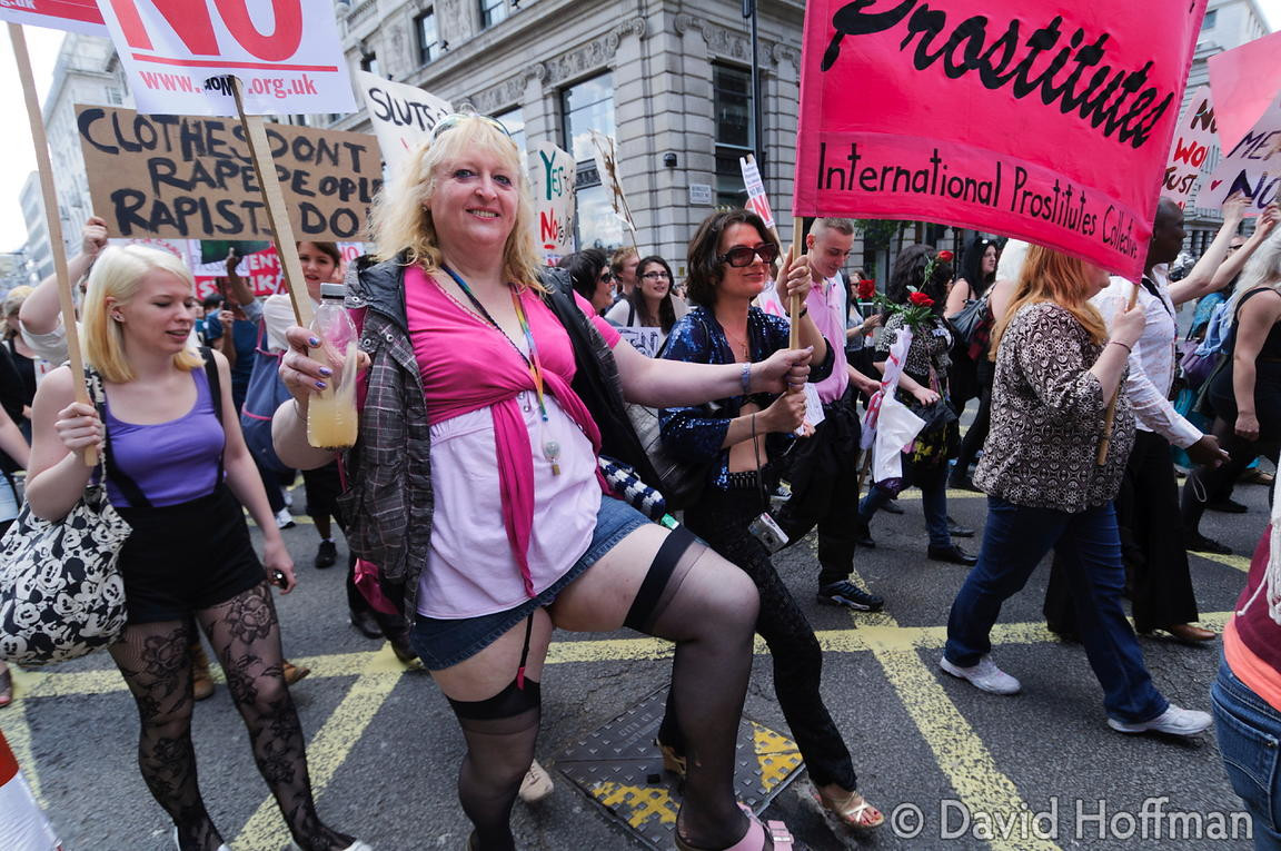 Slutwalk march and rally. London  June 11, 2011.