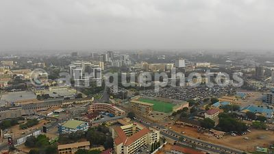 Accra from above, drone video