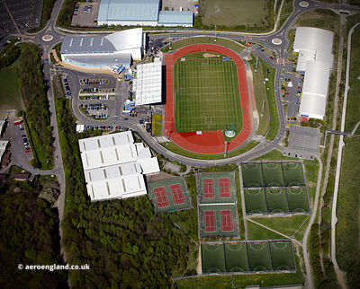John Charles Centre for Sport aerial photograph