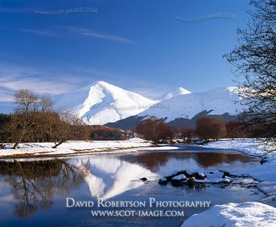 Image - Ben More and the River Fillan, Snow, Winter