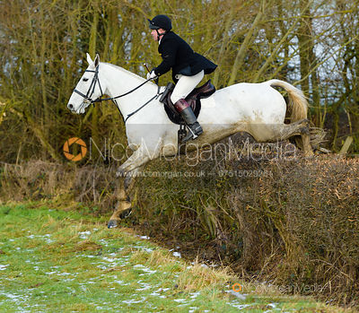 jumping a hedge at Walton Thorns