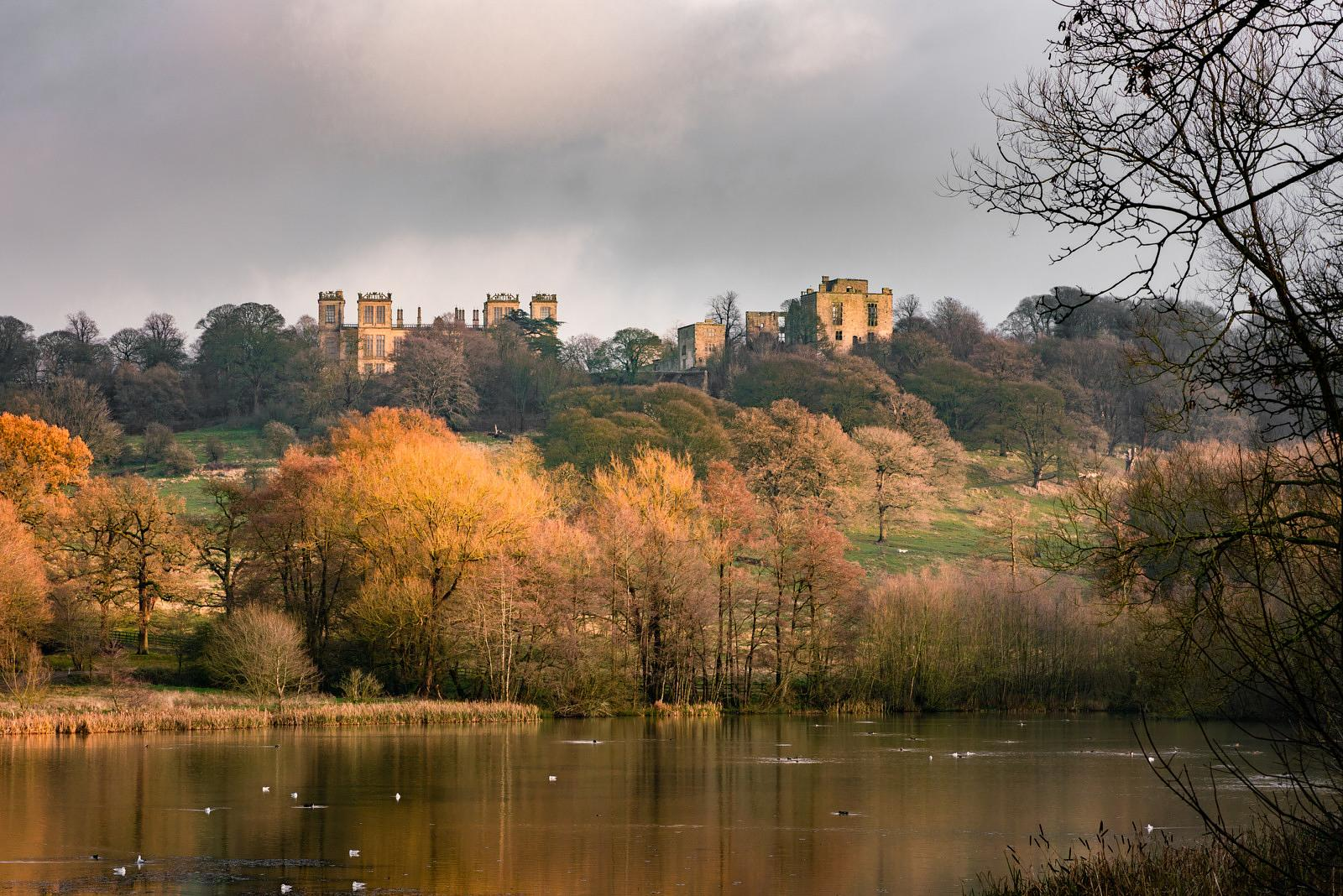 December sunset at Hardwick Hall