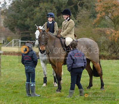 Suki Wales at the meet - The Fitzwilliam Hunt visit the Cottesmore at Burrough House