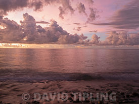 Clouds over the South Pacific viewed from Savo Island, Solomon Islands, South Pacific