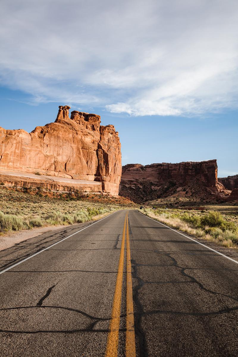 Road to Arches national park