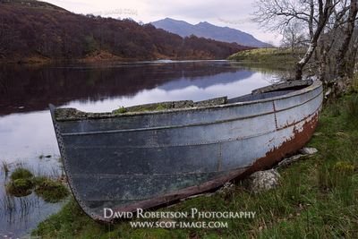 Image - Old boat, River Ewe, Poolewe, Wester Ross, Highland, Scotland