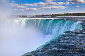 Waterfall Niagara Falls - North America, Canada, Ontario, Niagara, Niagara Falls (Great Lakes, Lake Ontario) - digital