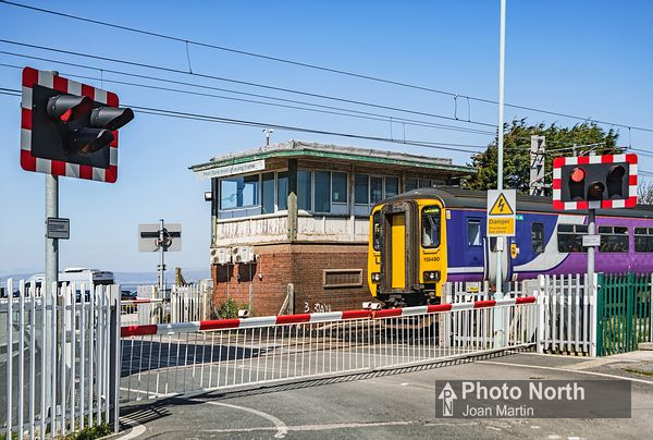 HEST BANK 20A - Level Crossing, Signal Box and Train