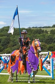 Image - Mounted Knight at a historical re-enactment of a jousting tournament