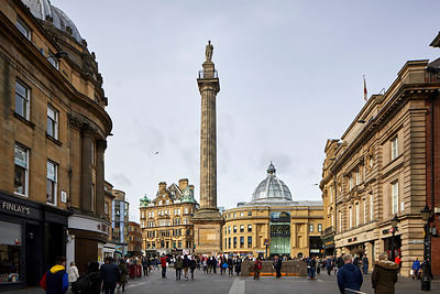 Newcastle upon Tyne, landmark Grey's Monument is a Grade I listed monument to Charles Grey, 2nd Earl Grey built in 1838
