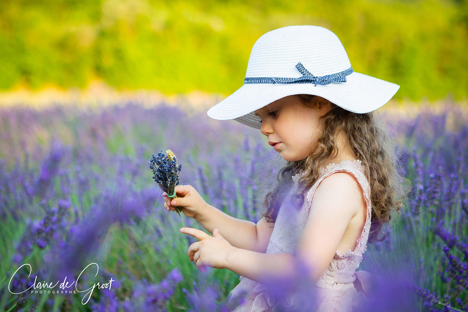 Portrait of a girl in a lavender field