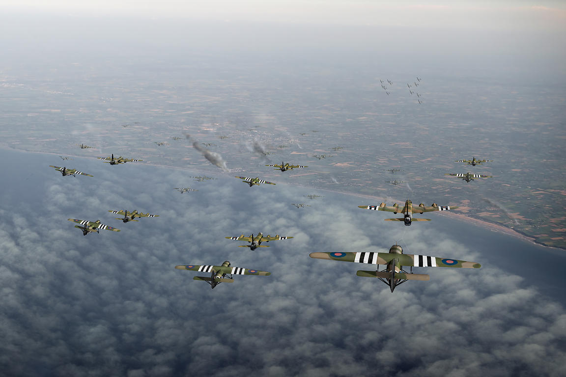 D-Day Stirlings and gliders
