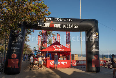Entrance to the Ironman Village, Barcelona