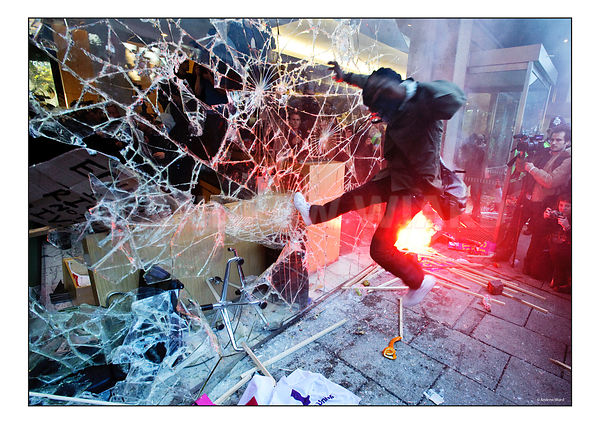 Students attack Conservative Party HQ, Millbank, 2010..