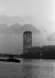 #124460,  Millbank Tower by the river Thames, 1973.