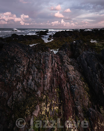 Dawn scene on Pembrokeshire coast, South Wales,UK