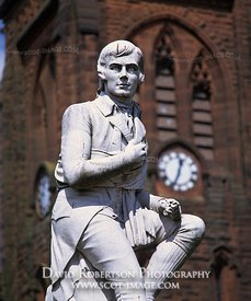Image - Statue of Robert Burns, Dumfries, Scotland