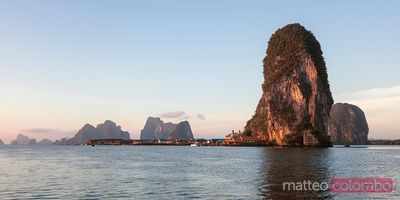 Ko Panyi fishing village panoramic, Phang Nga bay, Thailand