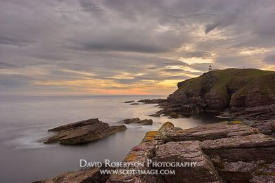 Image - Stoer Head Lighthouse, Stoer Peninsular, Assynt, Sutherland, Highland, Scotland.  At sunrise