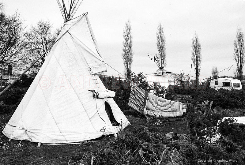 England, UK. 8.2.1982. Greenham Common Peace Camp.