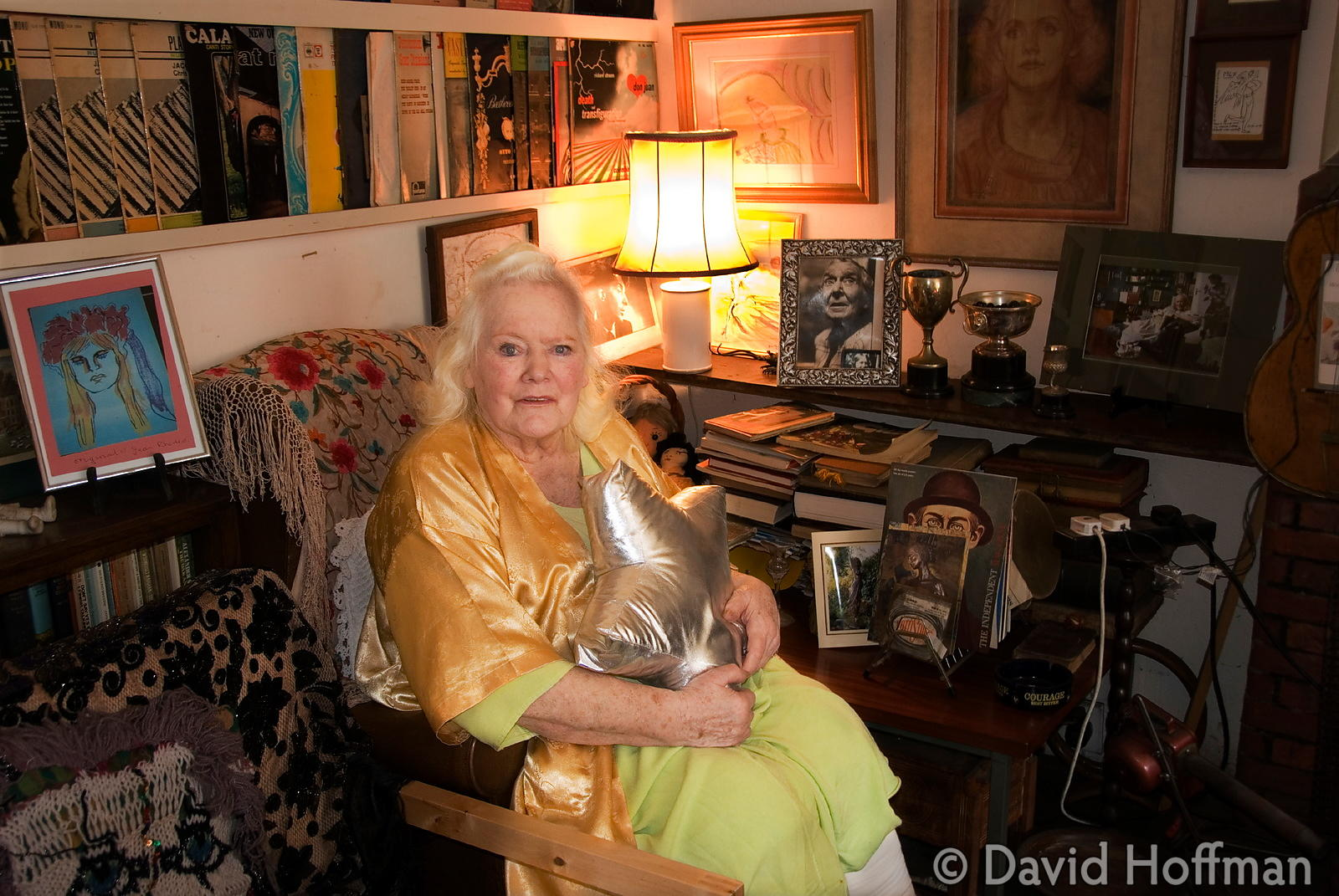 Joan Rhodes (13 April 1921 - 30 May 2010) at her home in London 5 April 2011