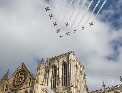 The Red Arrows over York Minster