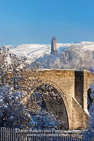 Image - Wallace Monument and Stirling Bridge in winter
