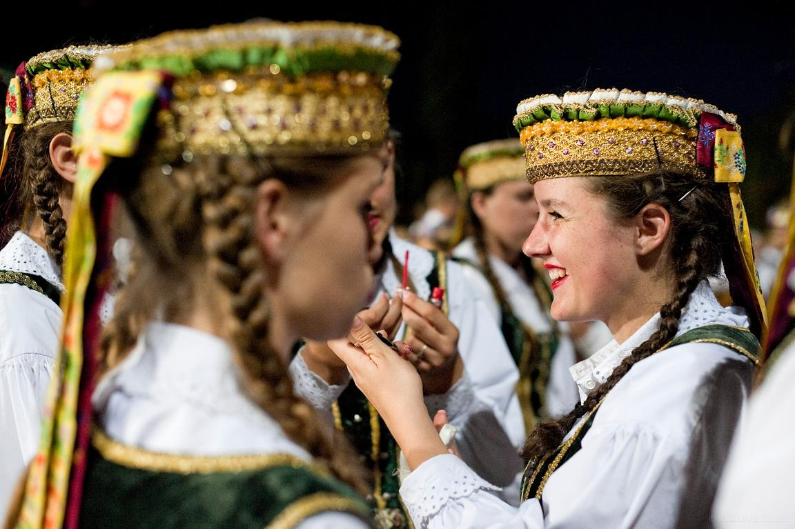 Dance Day. Lithuanian Song Celebration (Song and Dance Festival) 90th anniversary, Vilnius, Lithuania (5 July 2014)