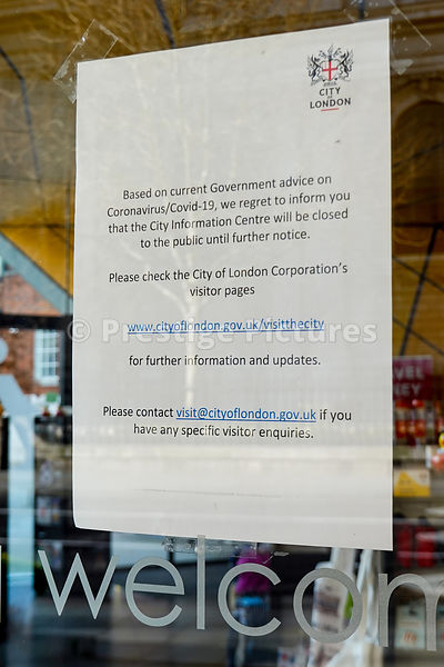 Tourist office closed due to the Corona Virus pandemic