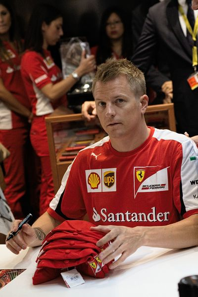 MILAN, ITALY – SEPTEMBER 3, 2020: Kimi Räikkönen visited Milan's Ferrari store ahead of the Formula 1 Italian Grand Prix of M...